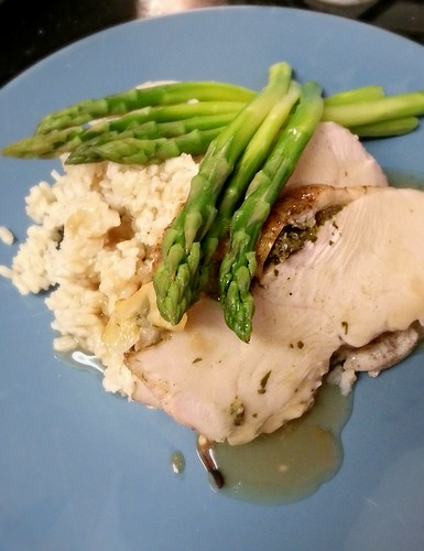 herb roasted turkey breast with asparagus by pipsyq