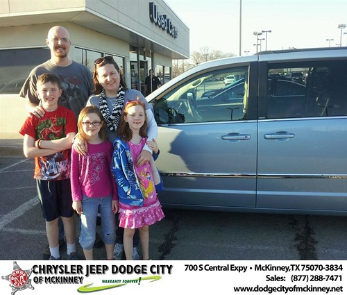 Thank you to Brian Thornburg on your new 2013 #Chrysler #Town & Country from Brent Villarreal and everyone at Dodge City of McKinney! #NewCar by Dodge City McKinney Texas