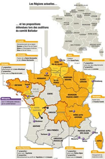 14a23 Le Figaro de 2009 Proyecto Balladur fusión regiones