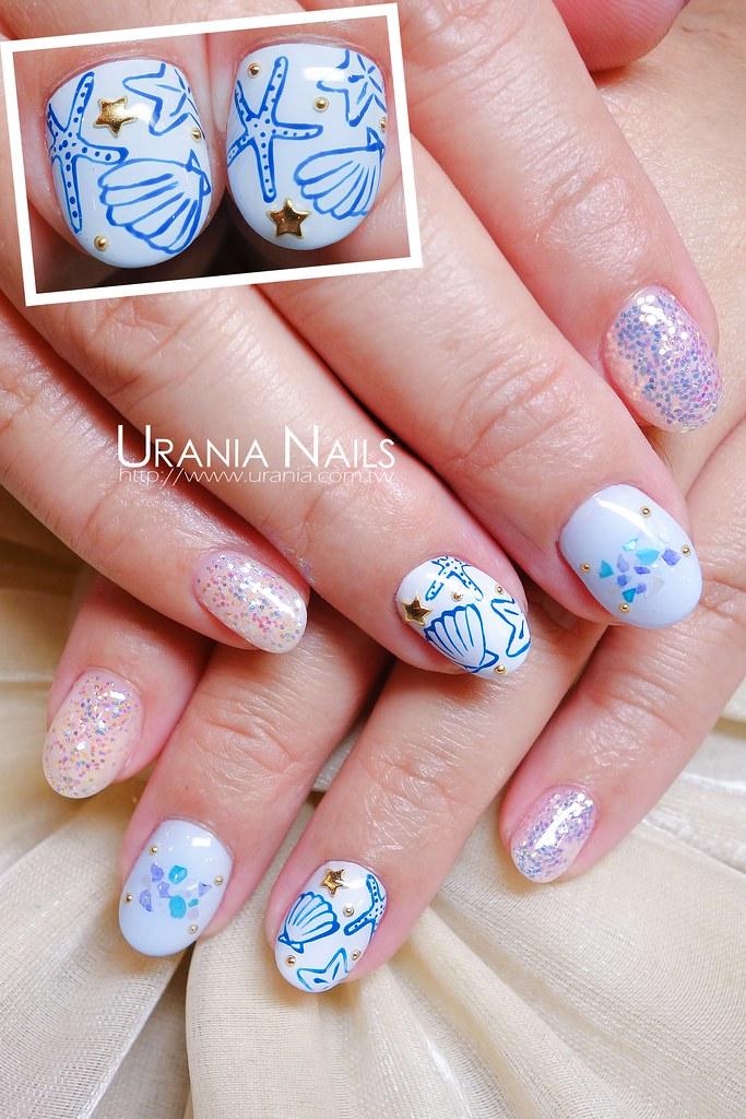 ♥ 夏日海洋風!凝膠指甲的清涼穿搭 1