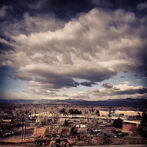 View of the front range from Concierge Lounge at DoubleTree #denver by @MySoDotCom