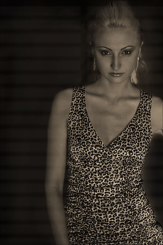 Image of Aliona with gobo lighting effect