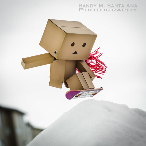 Danbo Snowboard Frontside Air!