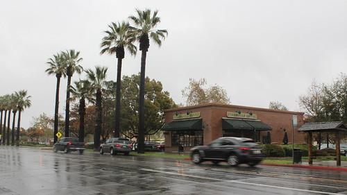 near Starbucks