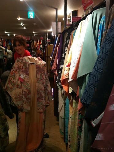 Mom Kimono Shopping