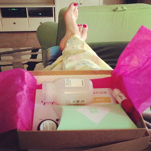 Birchbox and pj pants before 7pm. I'll take it! #happyfriday