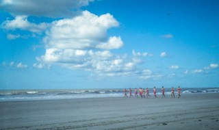 Jogging Lifeguards at Folly Beach