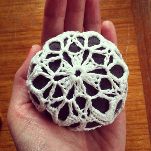1st attempt at a #crochet #stone @rodprjonar