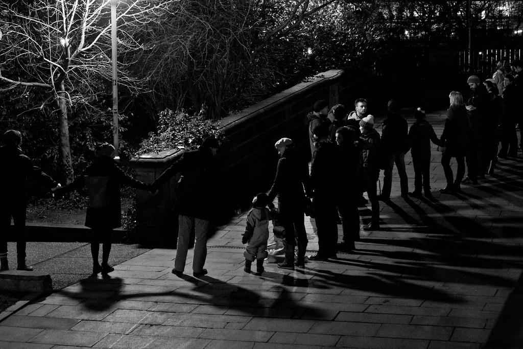 Menschenkette Augustusbrücke