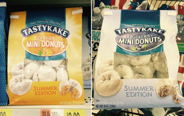 Tastykake Summer Edition Orange and Blueberry Mini Donuts