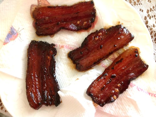 Morning snack before brunch, Mangalitsa bacon