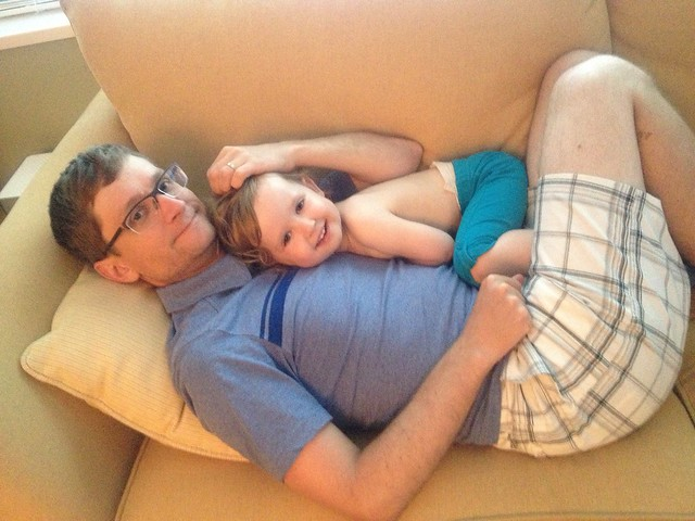 """""""cuddle with daddy!"""""""
