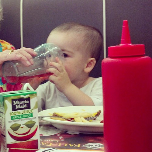 8/30/2013's View While Nursing...at a Steak and Shake eating supper.