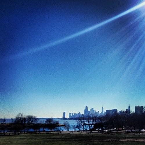 View of Chicago skyline from Cricket Hill #latergram #seenonmyrun