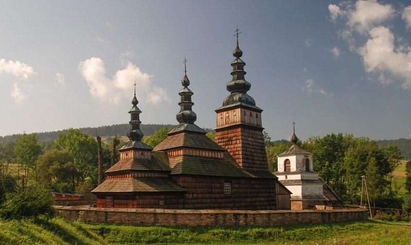 Tserkvas de madera de la región de los Cárpatos