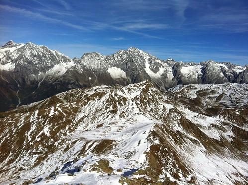 Gipfelblick Amperspitze auf Fernerköpfl, Magerstein & Co.
