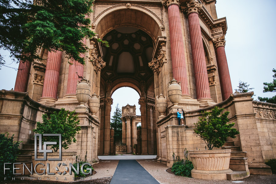 Hang & Bory's Engagement Session | Palace of Fine Arts | San Francisco Destination Engagement Photography