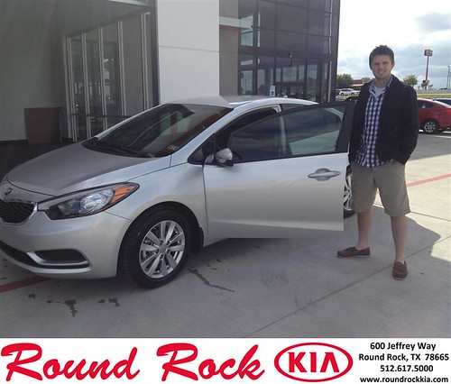Thank you to Tyson Schroder on your new 2014 #Kia #Forte from Bobby Nestler and everyone at Round Rock Kia! #NewCarSmell by RoundRockKia