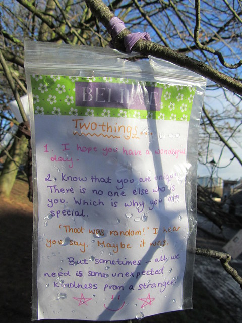 Random happiness and nice thoughts in Bristol's Castle Park