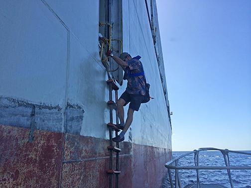 Ed Enos pilot ladder