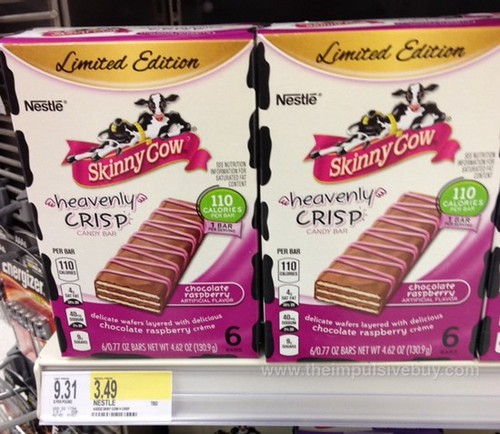 Limited Edition Skinny Cow Chocolate Raspberry Heavenly Crisp