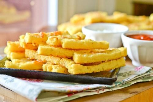 Baked Parmesan Polenta Fries-14