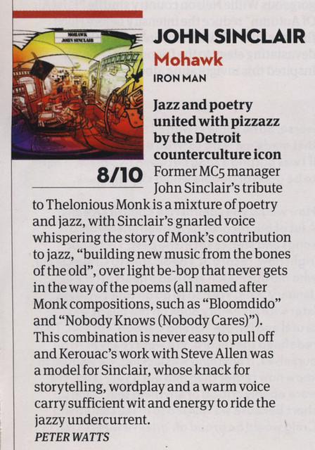 John Sinclair - Mohawk - review by Peter Watts for Uncut April 2014