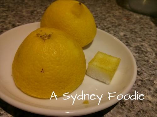 Lemon sugar rubbings