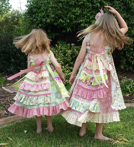 Feliz dresses for Christmas Day