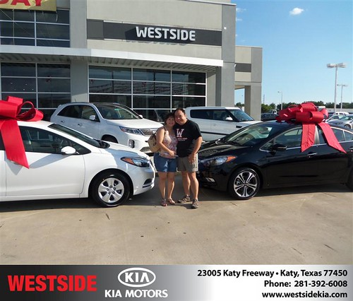 Westside Kia would like to say Congratulations to Maryrey Teel on the 2014 Kia Forte from Rubel Chowdhury by Westside KIA