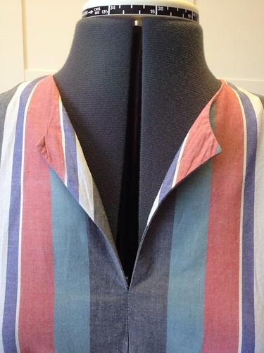 shirting stripe Vogue 9760 bodice