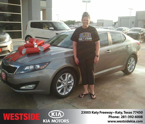 Thank you to Monica Shallenberger on your new 2013 Kia Optima from Gil Guzman and everyone at Westside Kia! by Westside KIA