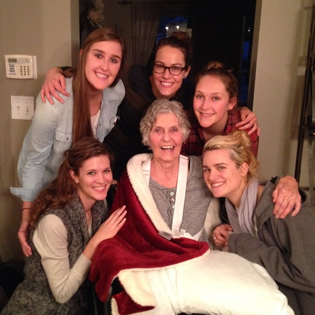 Gran and the girl cousins! Love her. #familytrip