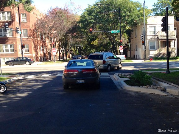 Curb extension at Ashland