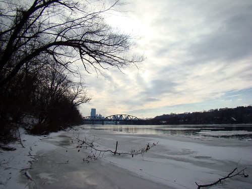 33rd Street Railroad Bridge and view of Downtown, Feb 3rd 2014