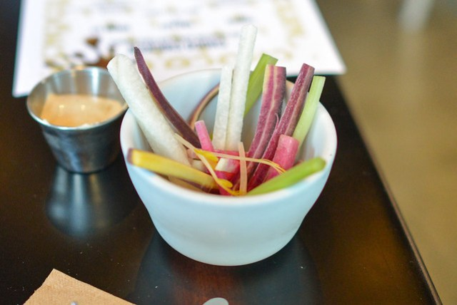 Cup of Raw Crudite miso ranch