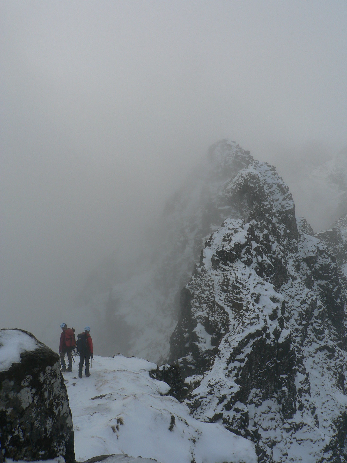 The ridge looking rather ominous ahead