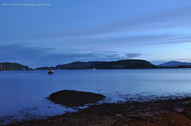 The silent blue hour in Oban Bay
