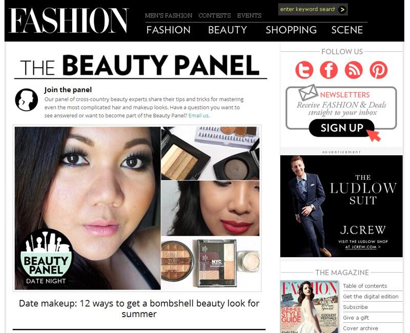 Beauty Panel Bombshell Look-Fashion Magazine