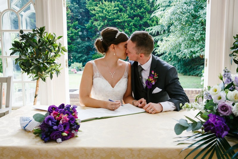 Our Wedding - Signing the Register by Foden Photography