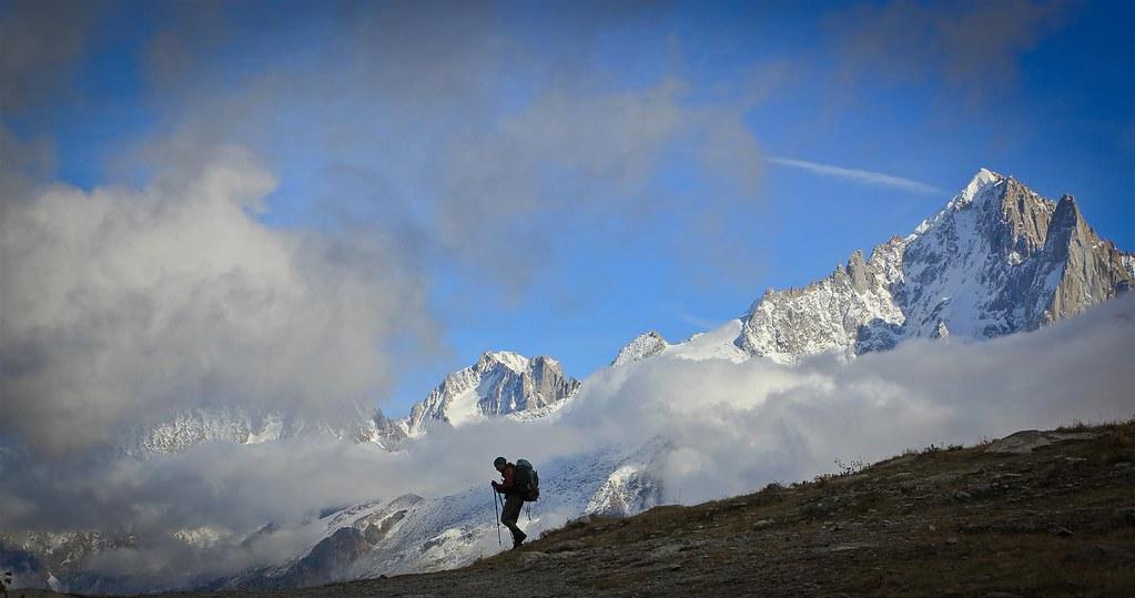 Aguille Verte (4122m). Massif du Mont Blanc. Haute-Savoie. France.