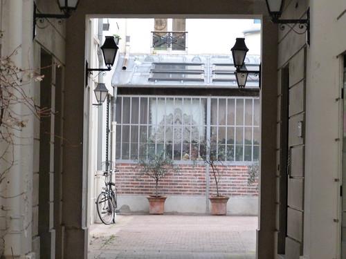 Courtyard witha bike