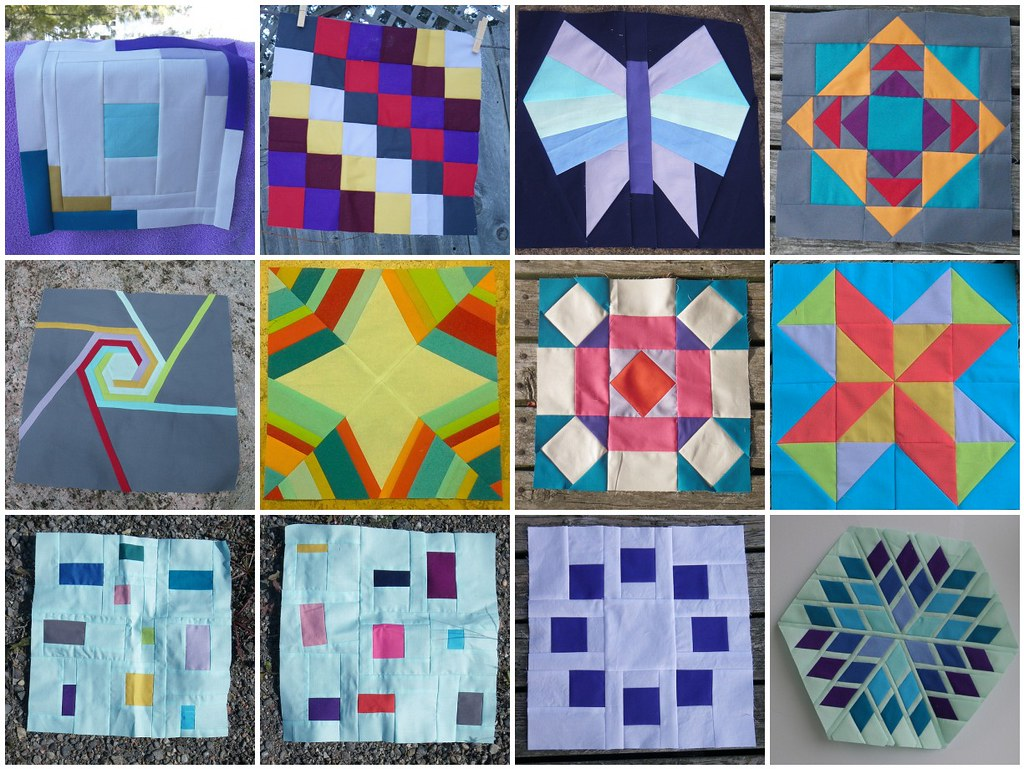 Simply Solids Bee blocks 2013