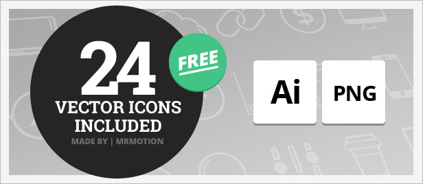 20 Vector Icons Included