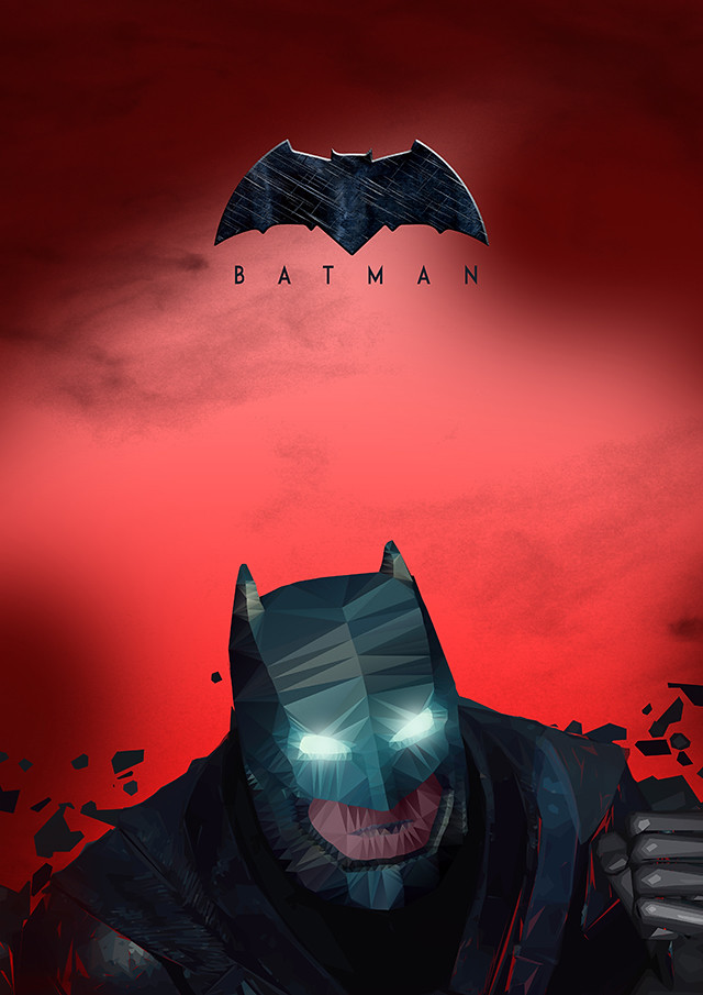Batman v Superman inspired poster design