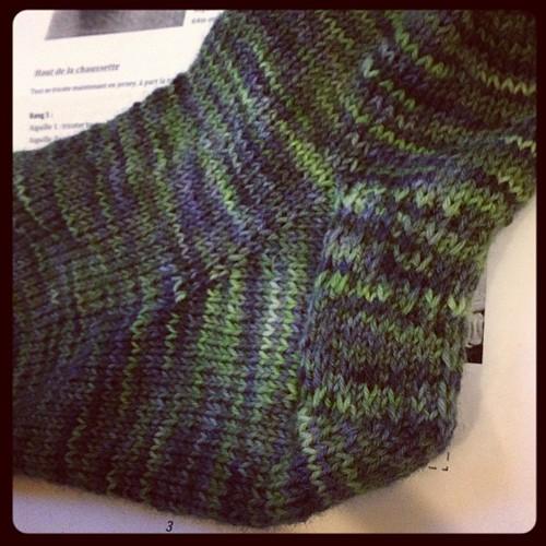 Heel #yarn #knit #knitting #knittingsock #araucania #ranco #lavoroamaglia #lanistequasianonime #handmade #handmadewithlove #fattoamano