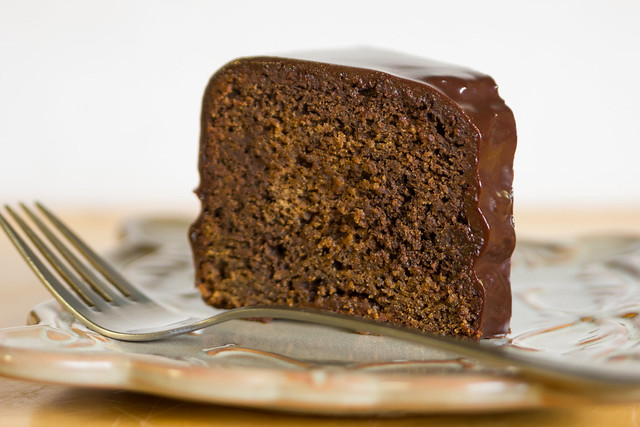 Gingerbread Cake with Chocolate Glaze