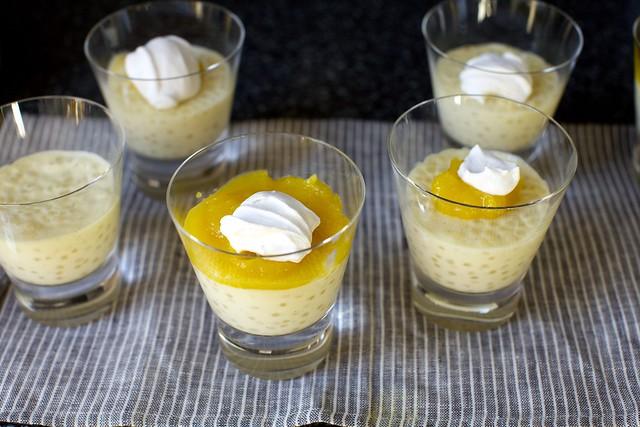 coconut tapioca + mango + coconut cream