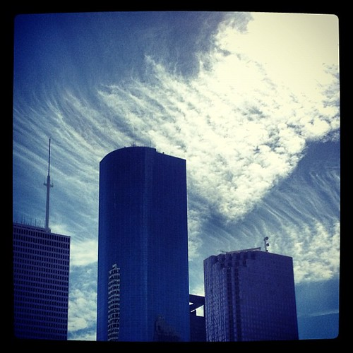 Clouds over Houston by @MySoDotCom