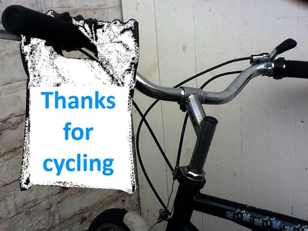 Thanks for cycling
